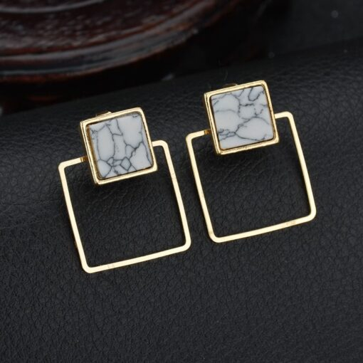 Square marble studs
