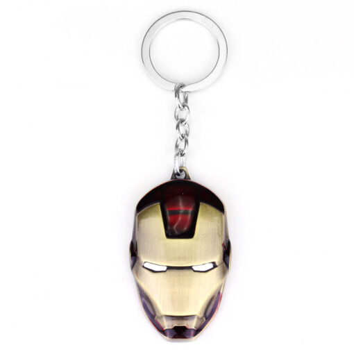 deep red iron man keychain