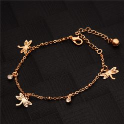 Insect gold anklet