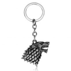 silver game of thrones keychain