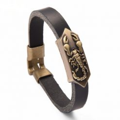 scorpio leather band