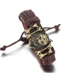 wolf leather band