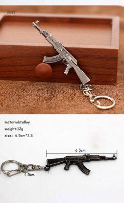 gun keychain