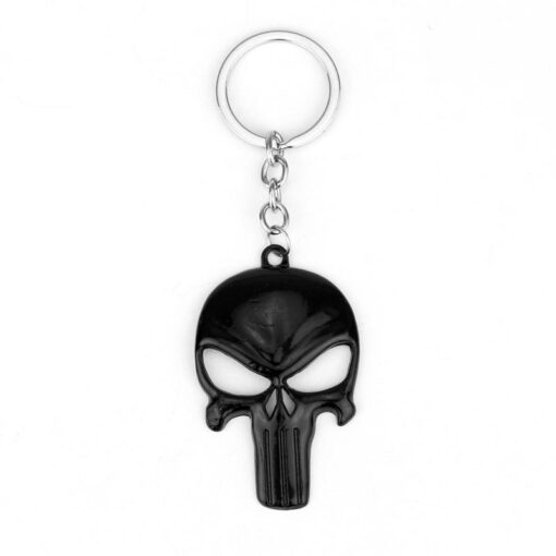 punisher black keychain