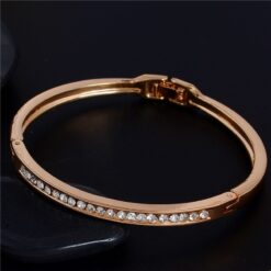 Austrian Crystal Classic Lady's Closed Bangle Bracelets