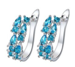 925 Sterling Sliver Stud Earrings Zircon Ear Studs