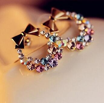 Bow & Bouquet Stud Earrings