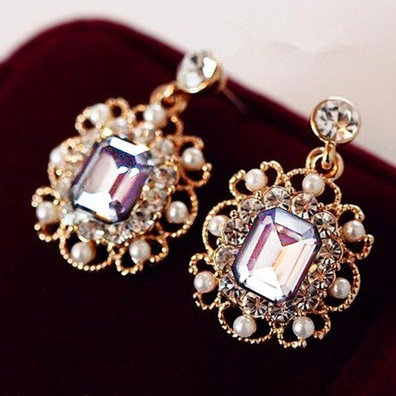 Vintage Fashion Square Earrings