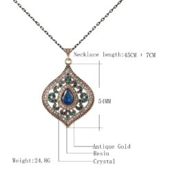 Blue Crystal Pendant For Women