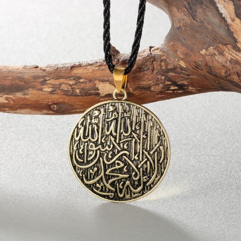 Antique Engraved Shahada Pendant