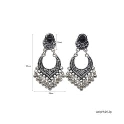 Vintage Metal Drop Earrings for Women