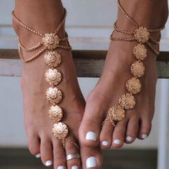 Foot jewelry metal gold color