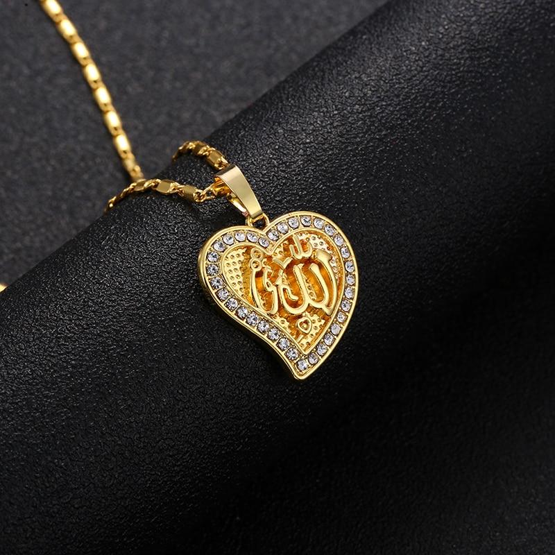 Heart Shape Allah Pendant