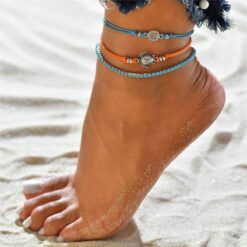 Beaded Turtle Anklet