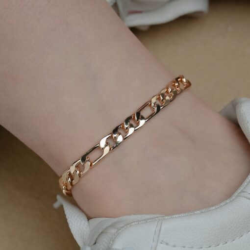 Meetvii Anklet for Women Golden Silver Color Geometric Leaf Shell Fashion Foot Chain Summer Beach Barefoot Sandals Jewelry