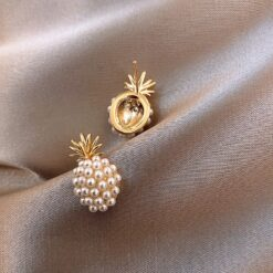 Pineapple pearl earrings  2