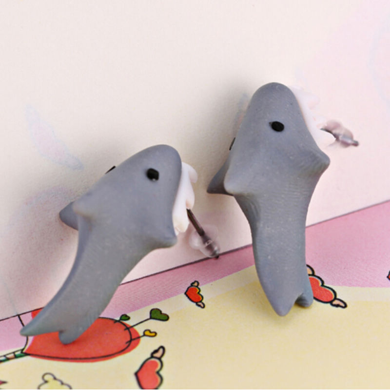 Cute Polymer Clay Shark Earrings 5