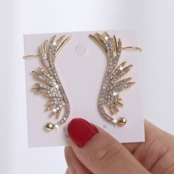 Studded Angel Wing Earrings 2
