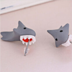 Cute Polymer Clay Shark Earrings 2