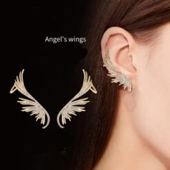 Studded Angel Wing Earrings 1