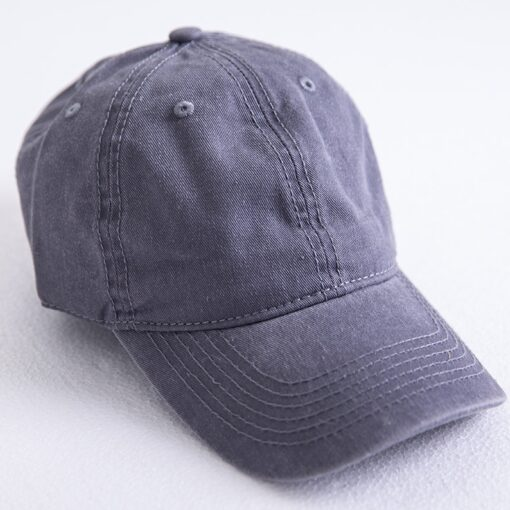 Washed out Cotton Denim Baseball Cap  3