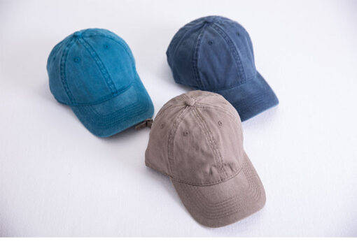 Washed out Cotton Denim Baseball Cap  2