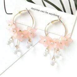 Trendy Acrylic Flower Earrings for Women 2