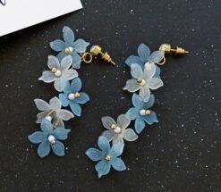 Trendy Acrylic Flower Earrings for Women 5