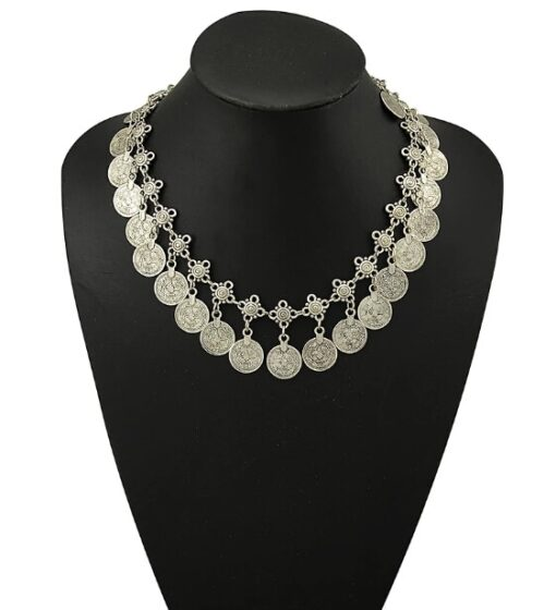 Ethnic Coin Tassel Necklace  1