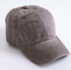 Washed out Cotton Denim Baseball Cap  7