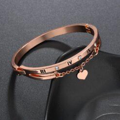 Rose Gold Stainless Steel Bracelet 1