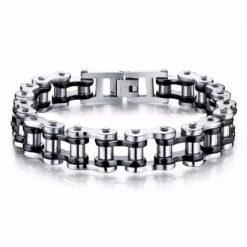 Stainless Steel Biker Chain Bracelet For Men 3