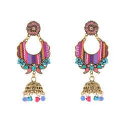 Ethnic Color Collage Jhumka Earrings 3
