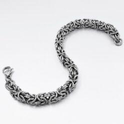 Stainless Steel Byzantine Chain Bracelet  2