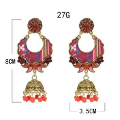 Ethnic Color Collage Jhumka Earrings 2