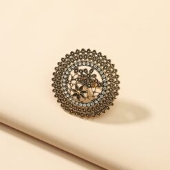 Indian Oxidized Golden Color Metal Rings 5